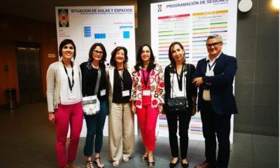 Isabel Acero, Nuria Alcalde, Marta Fernández, Natalia Dejo, Marisa Ramírez y Raúl Serrano en ACEDE